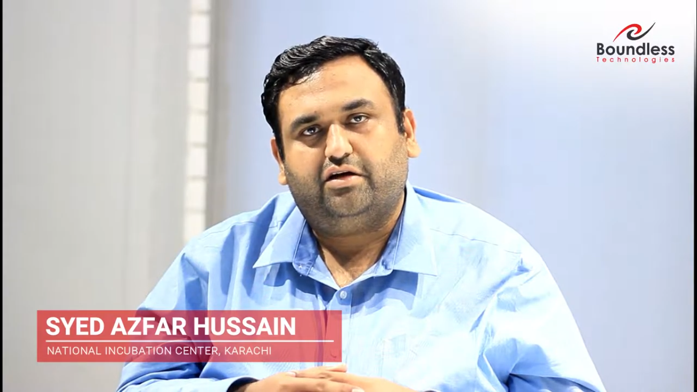 Mr. Syed Azfar Hussain Program Manager of National Incubation Center