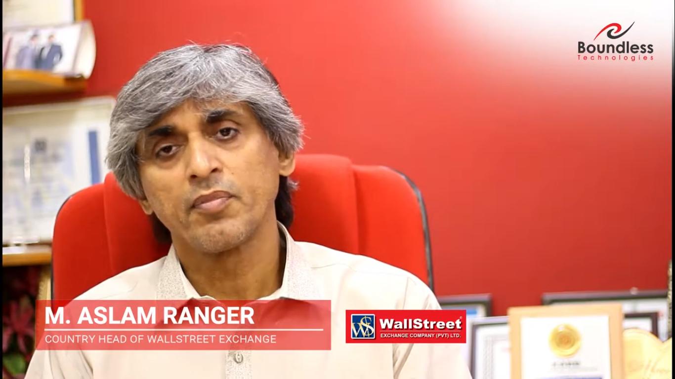 Mr. M. Aslam Ranger Country Head of WallStreet Exchange